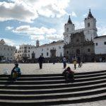 Grote plein in Quito Ecuador