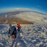 Afdaling Chimborazo Vulkaan