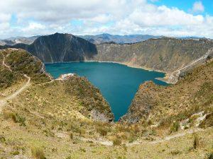 Quilotoa krater meer trekking Ecuador